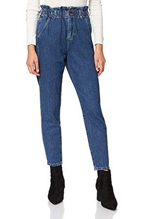 Cross Jeansy damskie Baggy Pant Jeans, ciemnoniebieskie, normalne