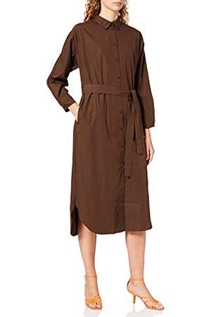 JACK & JONES Damska sukienka Jjxx Jxmargo Oversized Poplin Dress Noos koszula, Demitasse, S