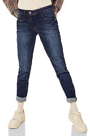 CECIL Dżinsy damskie, Mid Blue Wash, 26W x 30L
