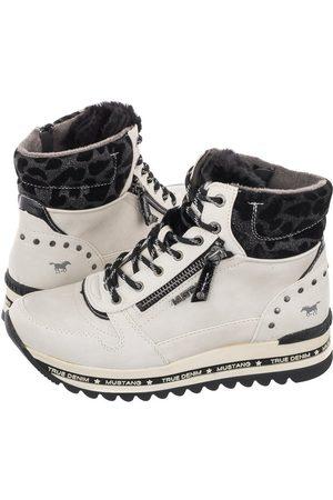 Mustang Kobieta Sneakersy - Sneakersy Białe 49C0050 (MU431-a)