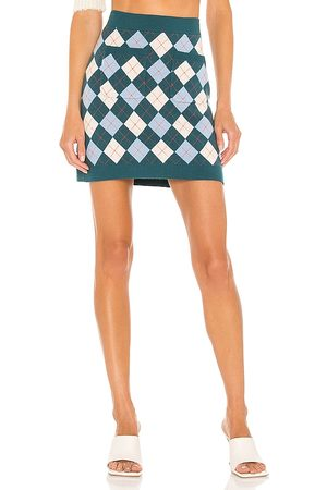 Free People Kobieta Swetry i Pulowery - Argyle Viola Sweater Skirt in - Teal. Size L (also in M, S, XS).