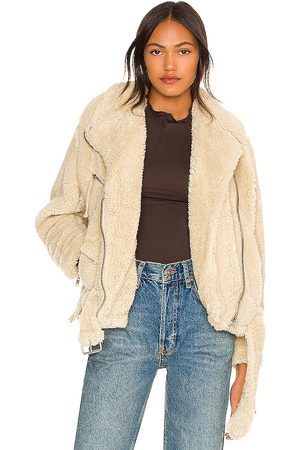 Free People So Cozy Slouchy Moto in - Cream. Size L (also in M, S, XL, XS).