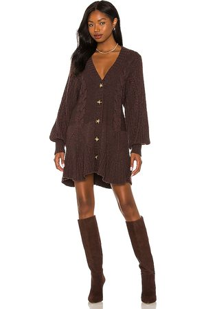 Free People Penelope Mini Dress in - Wine,Chocolate. Size L (also in M).