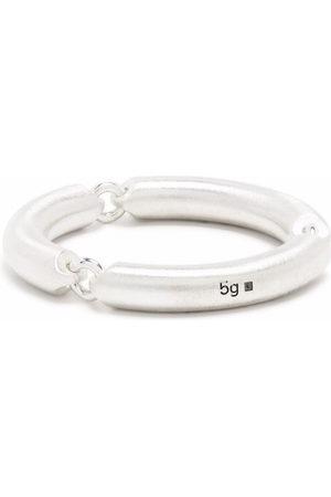 Le Gramme Pierścionki - 5g brushed sterling 3 link ring