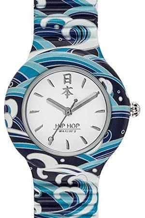Hip Watches - damski zegarek na rękę HWU0862 - kolekcja I Love Japan - bransoletka silikonowa - koperta 32 mm - wodoszczelny - mechanizm kwarcowy - niebieski