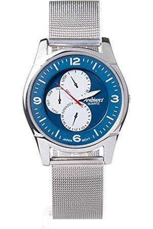 Arabians Męski analogowy zegarek kwarcowy z bransoletką ze stali szlachetnej DBP227Z
