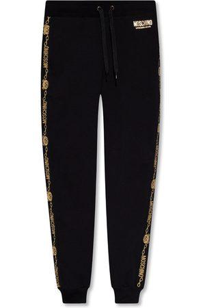 Moschino Mężczyzna Spodnie dresowe - Sweatpants with logo Czarny, male, rozmiary: XL