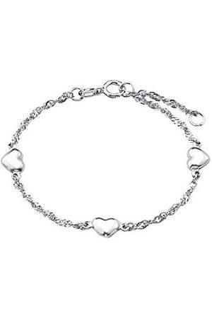 Amor Bransoletka damska 19 cm z zawieszką w kształcie serca srebro 925 rodowane
